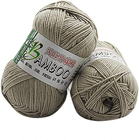 Winkey Ovillo de hilo, 100 % de algodón cálido de bambú natural, para ganchillo. Ovillo de 50 g, para mantas o jerséis X: Amazon.es: Hogar
