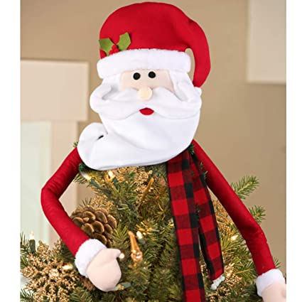 wmbetter large santa christmas tree topper for christmas tree decorations