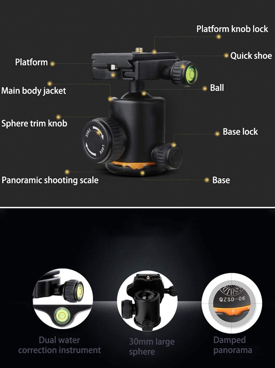 Color : Black LLluckyHW Camera Tripod Desktop Macro Mini Tripod Durable Aluminum Stand for Videos Carry Bag Panoramic Shooting Enhanced Twist-Lock DSLR Video Shooting