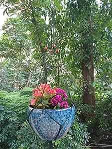 4patas grande macramé cuerda de nailon planta titulares Atrovirens color, 43-inches y borla de 10pulgadas para Big maceta