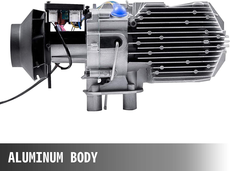 BuoQua Calentador de Aire Diesel de 12V 3 kW Camiones y Veh/ículos Calefacci/ón de Diesel Estacionario de Aluminio Pulido Disipaci/ón y Ahorro de Energ/ía Calentador de Combustible Diesel de Coches