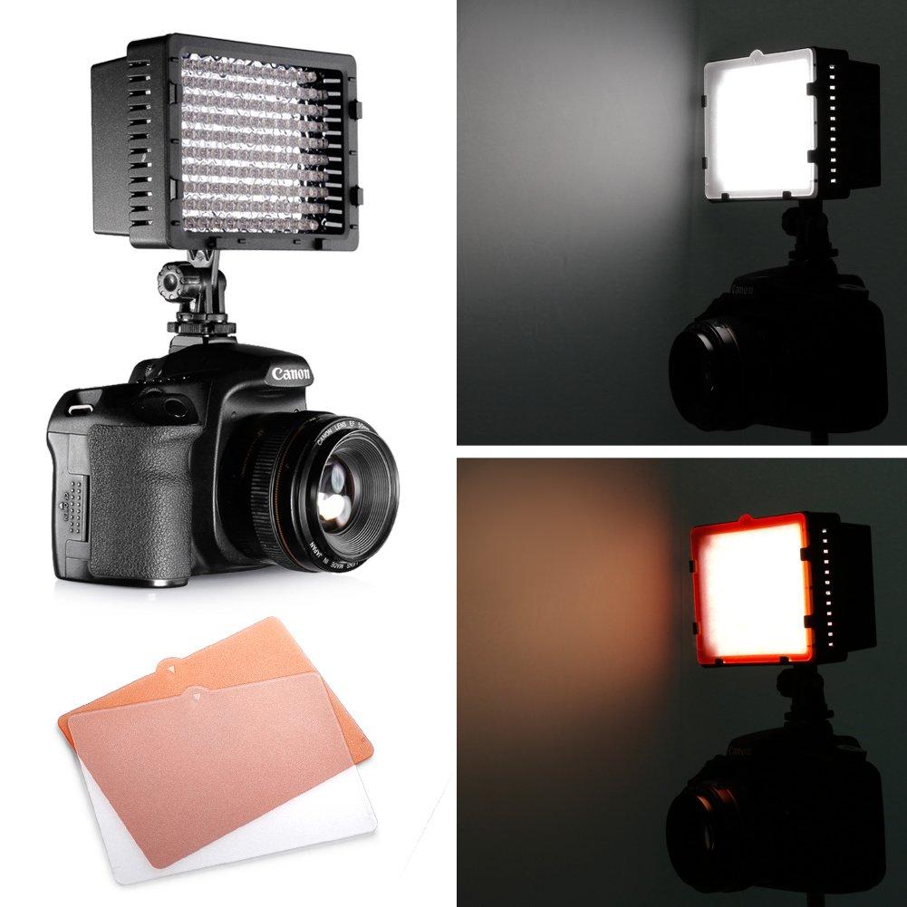 Amazon neewer cn 126 led video light for camera or digital amazon neewer cn 126 led video light for camera or digital video camcorder on camera video lights camera photo arubaitofo Images