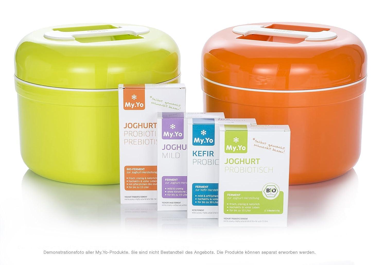 my yo power free yoghurt maker mandarin with 2 bags of bio enzymes