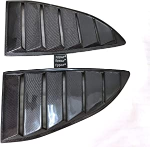 Eppar New Carbon Fiber Rear Window Vent 2PCS Compatible with Hyundai Genesis Coupe 2009-2013