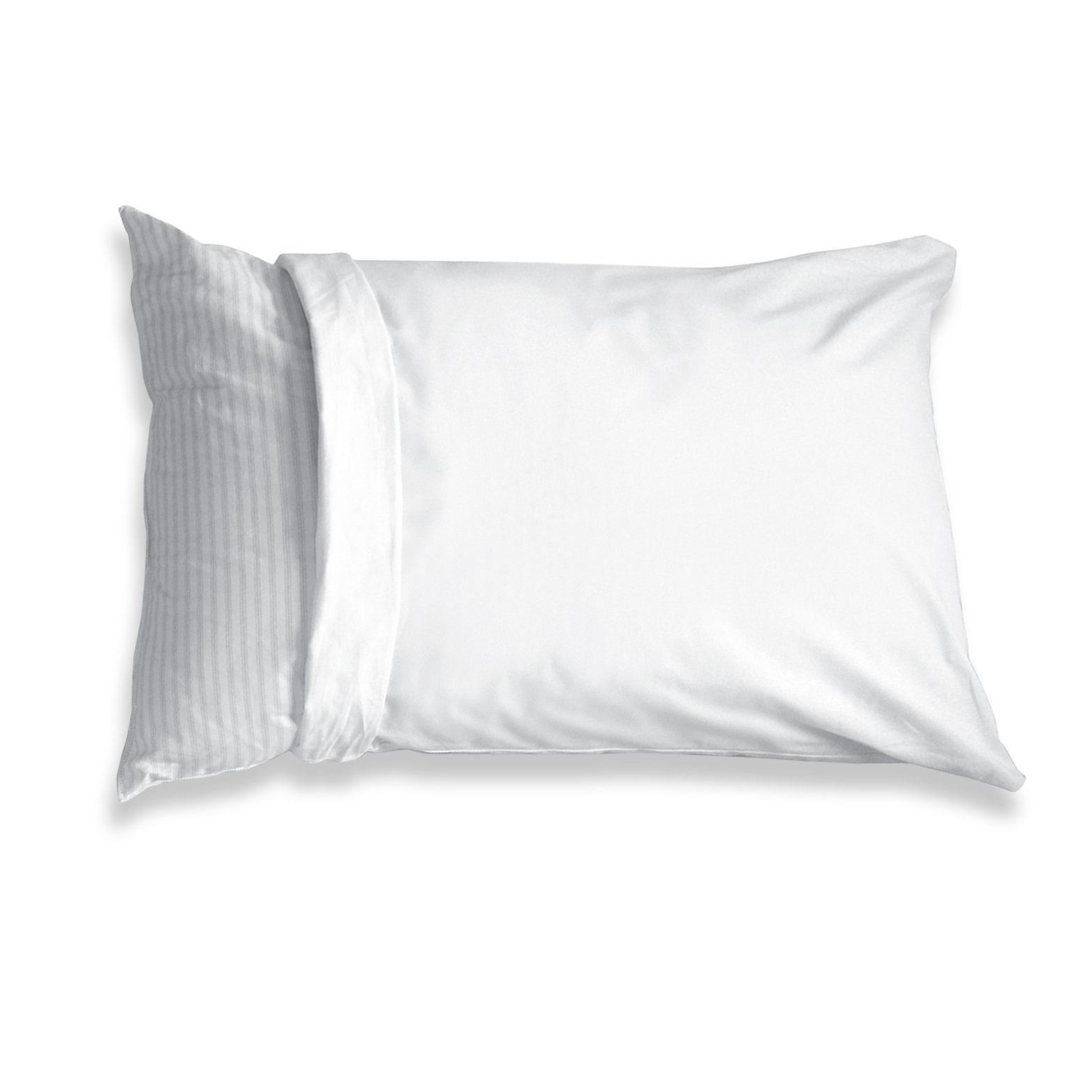 Levinsohn Fresh Ideas 100% Cotton Teflon Coated Pillow Protector Waterproof and Stain Resistant 2 Pack Standard, White