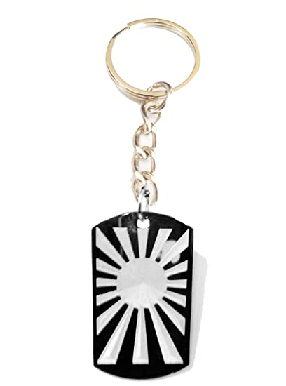 Amazon.com  Rising SUN Japan Japanese Flag Logo Symbols - Metal Ring ... 50832028cfeb