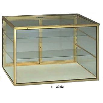 Amazon.com: Carcasa de cristal con tapa de cierre de marco ...