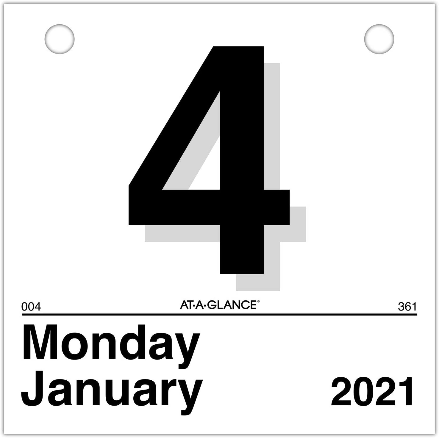 """2021 Daily Wall Calendar Refill by AT-A-GLANCE, 6"""" x 6"""", Mini, """"Today is"""" Design (K15021)"""