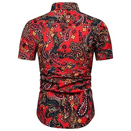 IYFBXl Mens Business//Street Chic Shirt Color Block Print