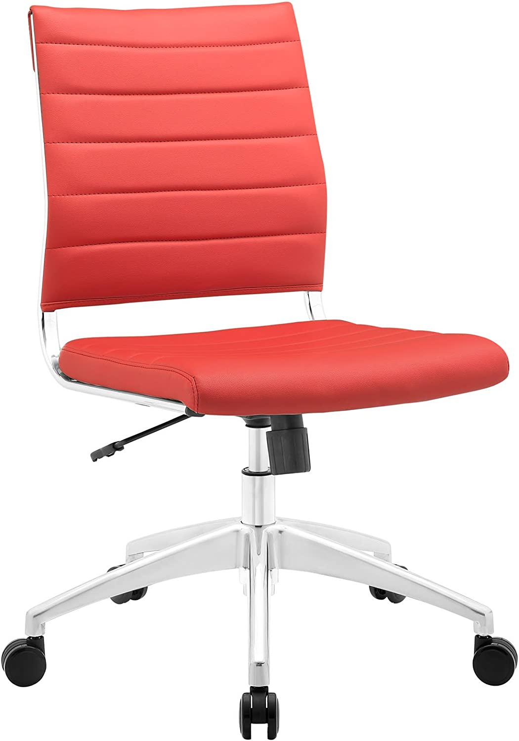 Modway Jive Mid Back Office Chair, Red