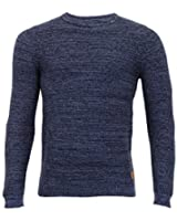 Hommes Pull tricot Threadbare PULL PULL-OVER haut ras de cou décontracté hiver NEUF