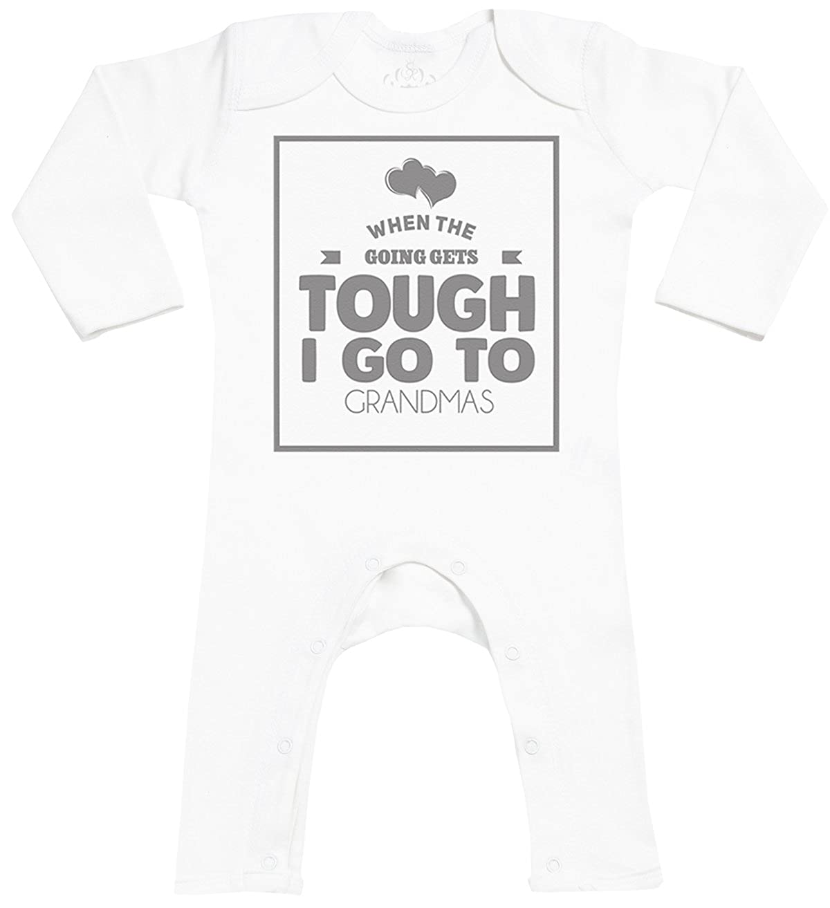 Baby Sleepsuit Baby Present When Tough I Go To Grandmas Baby Footless Romper SR Baby Romper Gift