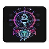 Semtomn Gaming Mouse Pad Anchor and Butterfly Neon