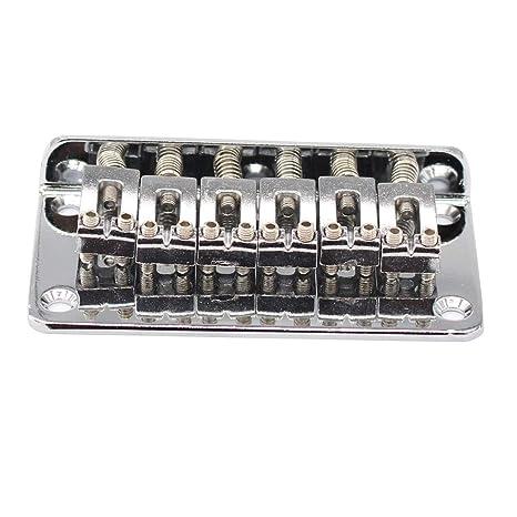 Guitarra eléctrica puente de cola dura 6 cuerdas – cromo para 6 cuerdas Fender Strat Stratocaster