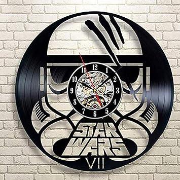 Star Wars wanduhr,Vinyl Record wanduhr,Wohnzimmer Uhr,Moderne Retro  Wanduhr,Für Wohnzimmer Hotel Partei-K 30cm(12inch)