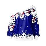 Christmas Blouse Franterd Women Santa Claus Print