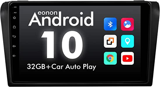 2020CarStereo,Eonon9Inch Android10CarRadio,IPSFullTouchscreenHeadUnit,FitMazda32004-2009, SupportCarplay/AndroidAuto/Bluetooth4.0/FastBoot/DVR/OBDII-GA9451B