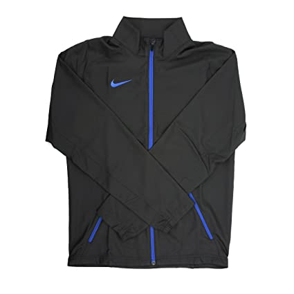 9e536926ab140 Amazon.com   Nike Dri-Fit Men s Black Blue Full-Zip Training Jacket ...