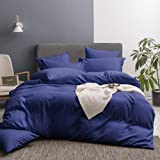 Merryfeel Bedding Duvet Cover Set,Ultra Soft Brushed Microfiber Duvet Cover with Button Closure and 2 Pillow Shams,Hotel Coll