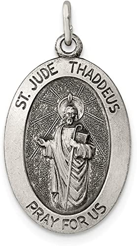 Saint Jude Fine 925 Sterling Silver Charm Necklace