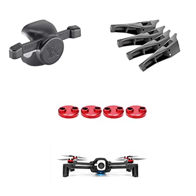 LEMONPET for Parrot Anafi Accessories Kit, Motor Protection Cap Motor Cover + Landing Gear Leg Height Extenders + Gimbal Camera Protector: Clothing