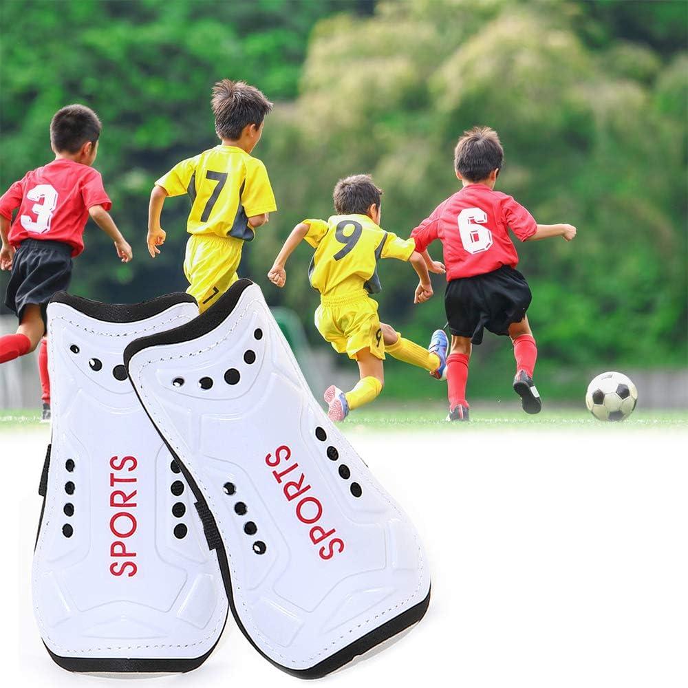 Homo Trends Football Shin Pads White 3 Sizes Soccer Shin Guards Socks Kids Football Socks for Boys And Girls Football Games Leg Calf Protective Gear Shin Pads Boys