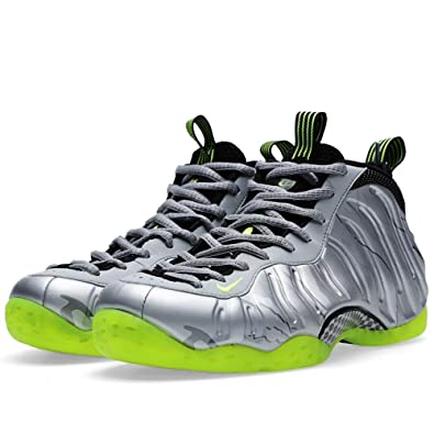 best service 27893 00f50 Nike Men's Air Foamposite One PRM, METALLIC SILVER/VOLT-BLACK-MTLC CL  GREEN, 6.5 M US