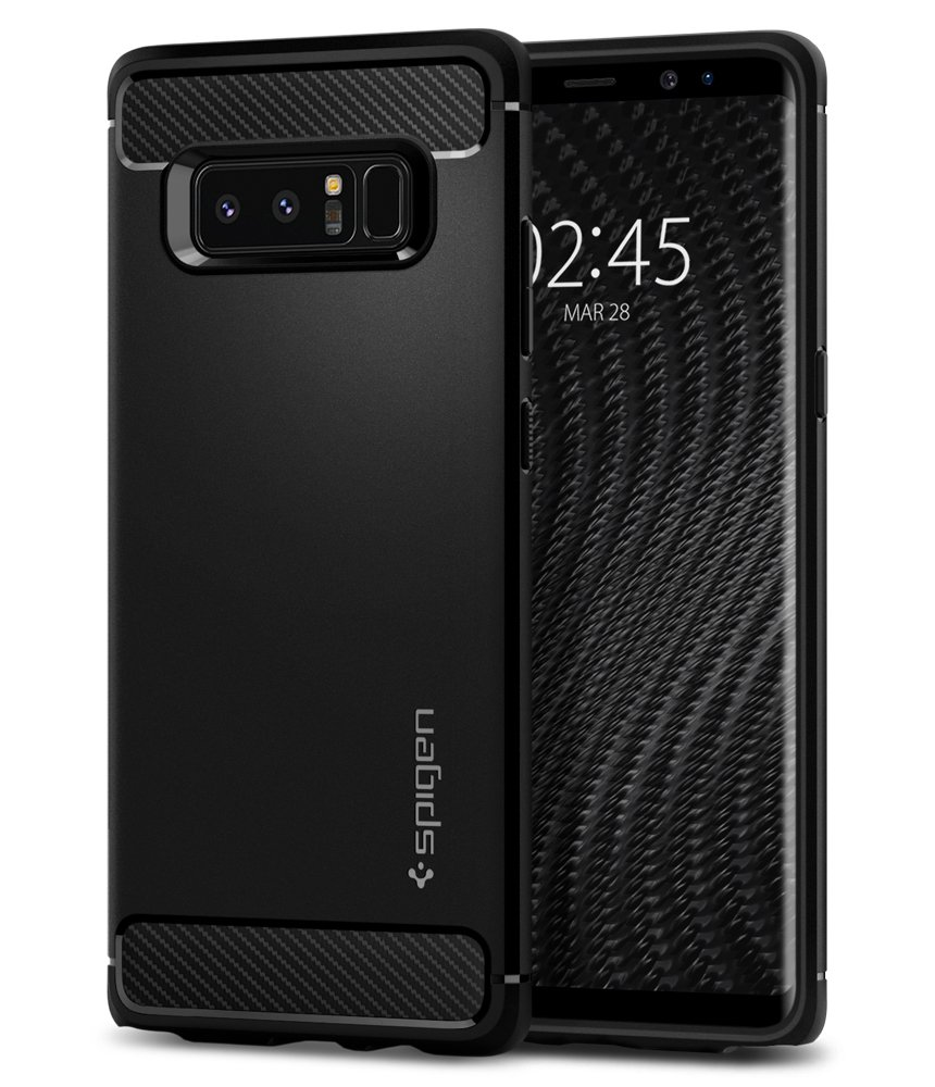 wholesale dealer fdeaf a2e45 Spigen Rugged Armor Designed for Samsung Galaxy Note 8 Case (2017) - Matte  Black