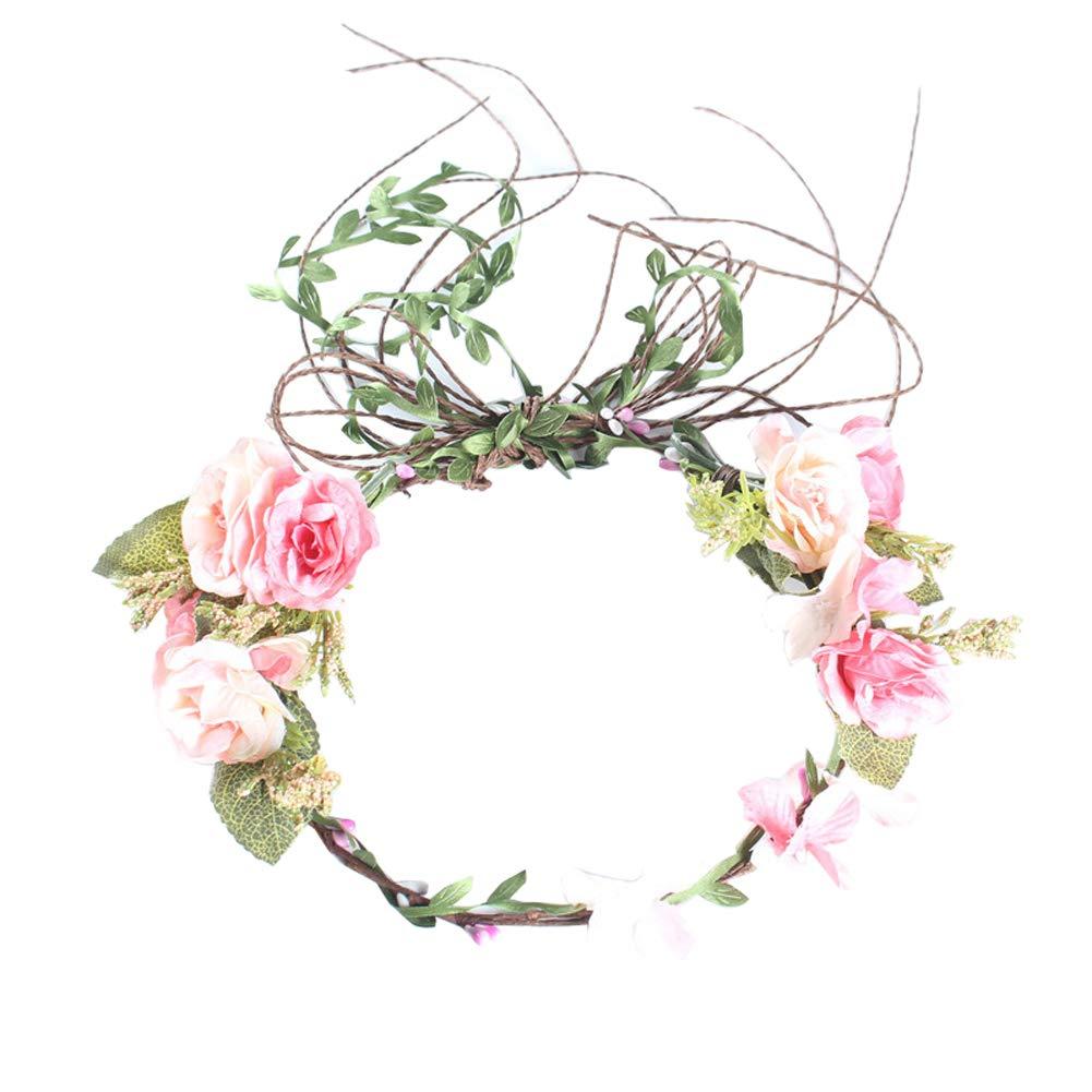 Jewelryou Adjustable Flower Crown Festivals Headbands Garland Girls Hair Wreath