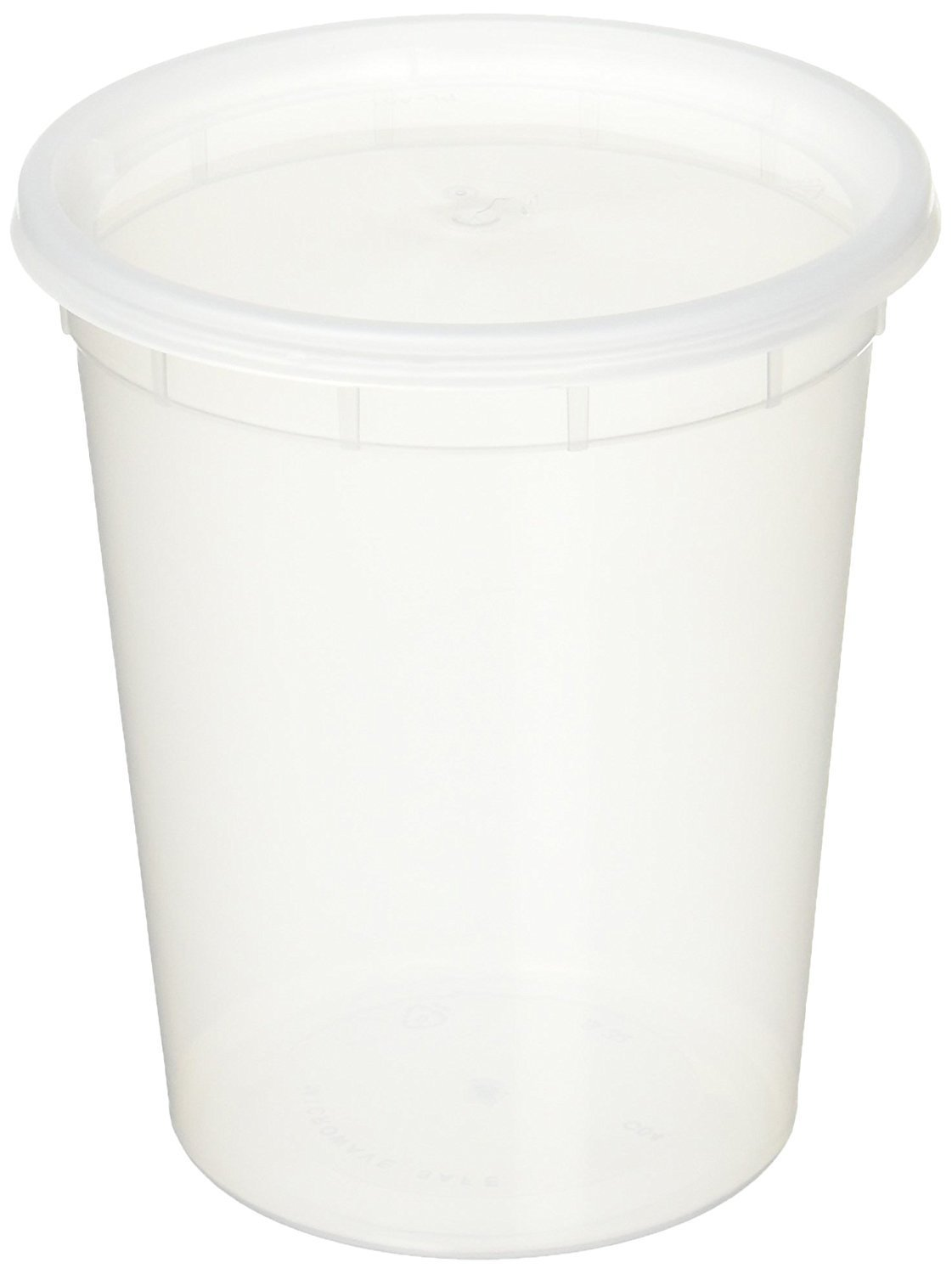 deli food storage containers with lids 16 ounce 50 count kitchen dining. Black Bedroom Furniture Sets. Home Design Ideas