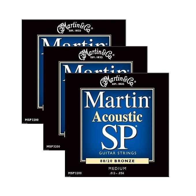 Amazon com: Martin Msp3200 Medium Acoustic Sp Guitar Strings