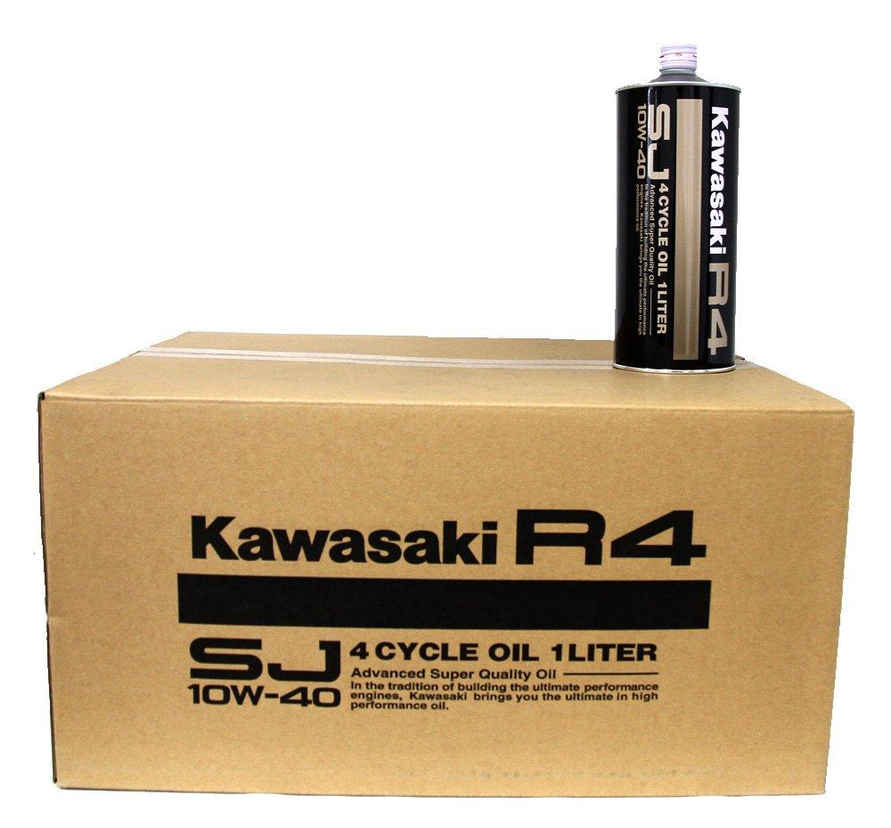 カワサキ純正 4サイクル エンジンオイル R4 SJ10W-40 【1L缶】(20本入り1ケース)20リットル B015TZN3S6