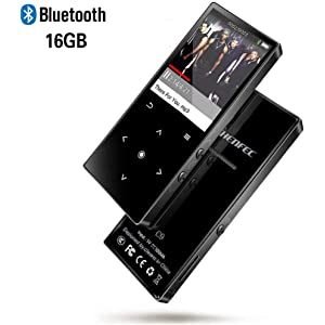 HI-FI Lossless Sound MP3 Music Players Metal Body with Built-in Speaker Backlit Keys and 45 Hours Playtime Support SD card up to 128GB CFZC 16GB Bluetooth MP3 Player