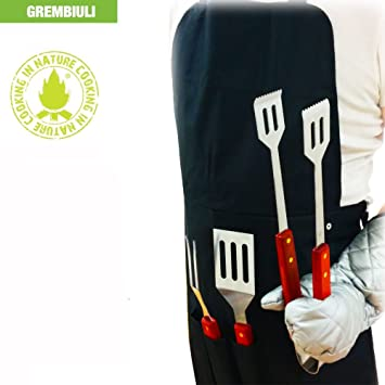 "Delantal De Barbacoa ""Cooking in Nature"" - Set 5 Unidades Con Accesorios Y"