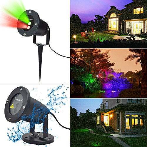 Outdoor Laser Landscape Projector Light Red And Green Waterproof Landscape Sp