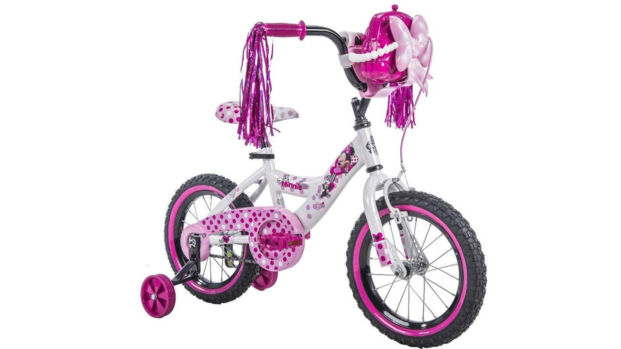 Amazon.com: Minnie Mouse Happy Helpers bicicleta 14 inch ...