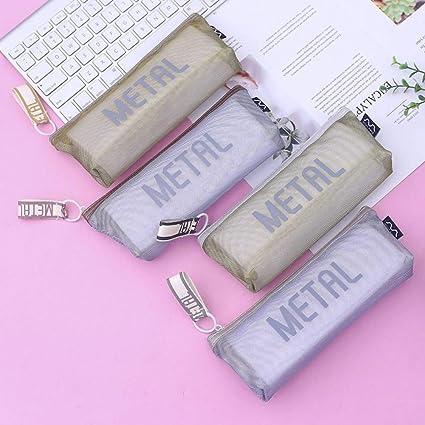SASHUI Estuche 1 Unids Kawaii Estuche De Lápices Regalo De Color Metálico Caja De Lápices Escolares Estuche De Lápices Bolso De Lápices Útiles Escolares Papelería Maquillaje: Amazon.es: Oficina y papelería