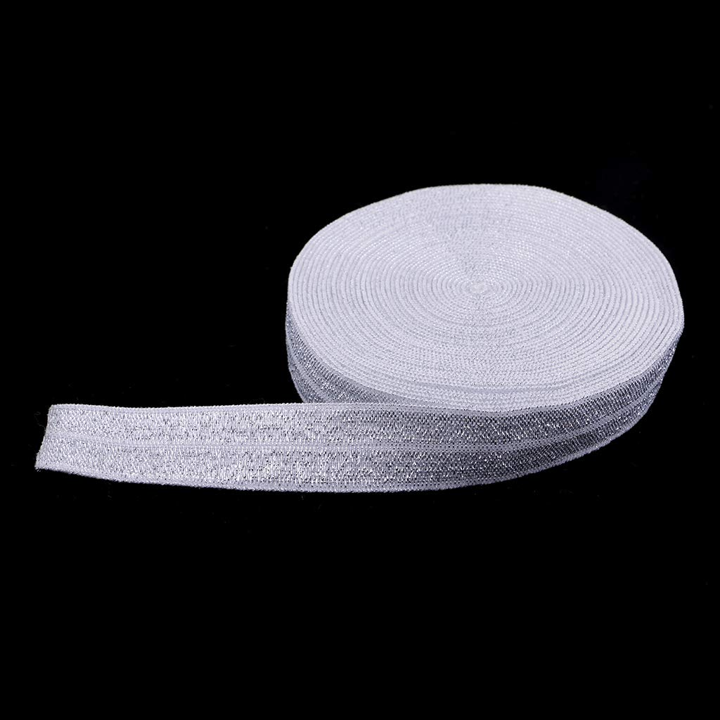 Verde B Baosity 5 Yards 15mm Elastic Lace Band Accessori e Mestieri per Cucire Fai-da-Te