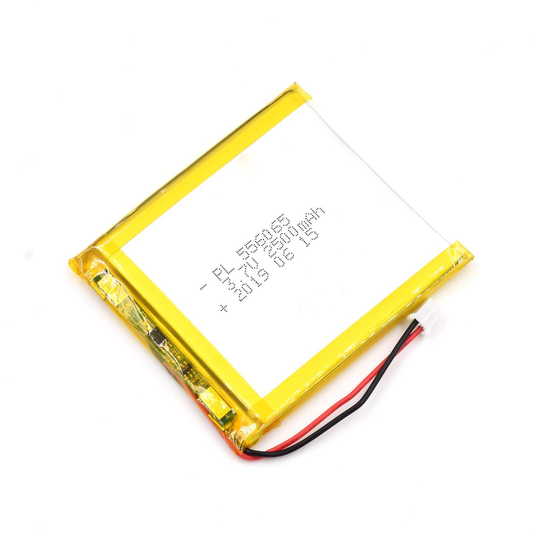 Bateria Lipo 3.7V 2500mAh 556065 Recargable JST Conector