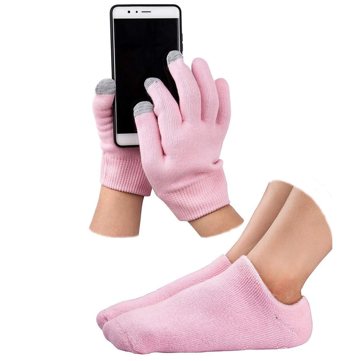 Gel Moisturizing Spa Gloves and Socks Gel Repair and Heal Eczema Cracked Dry Skin Touch Screen Moisturizing Gloves