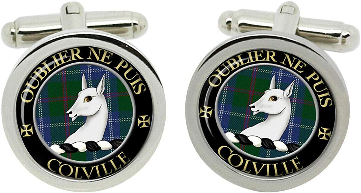 Scottish Clan Surname Colville Crest Cufflinks with Gift Box 61VjIzKebhLUL1240_