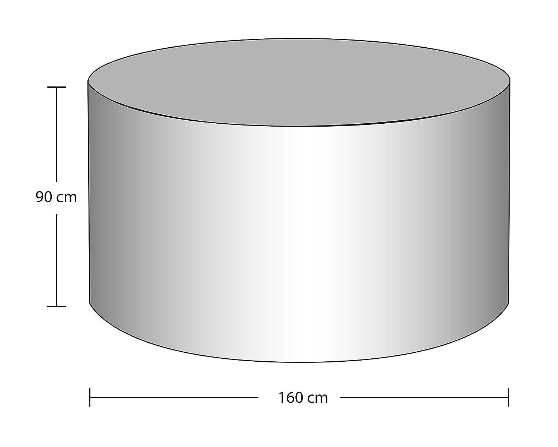 Gartenfreude Schutzhülle, Deluxe mit weichem Innenvlies für Gartentisch Gartentisch Gartentisch (oval), grau, 230x160x90 cm, 4800-1011 417cc8
