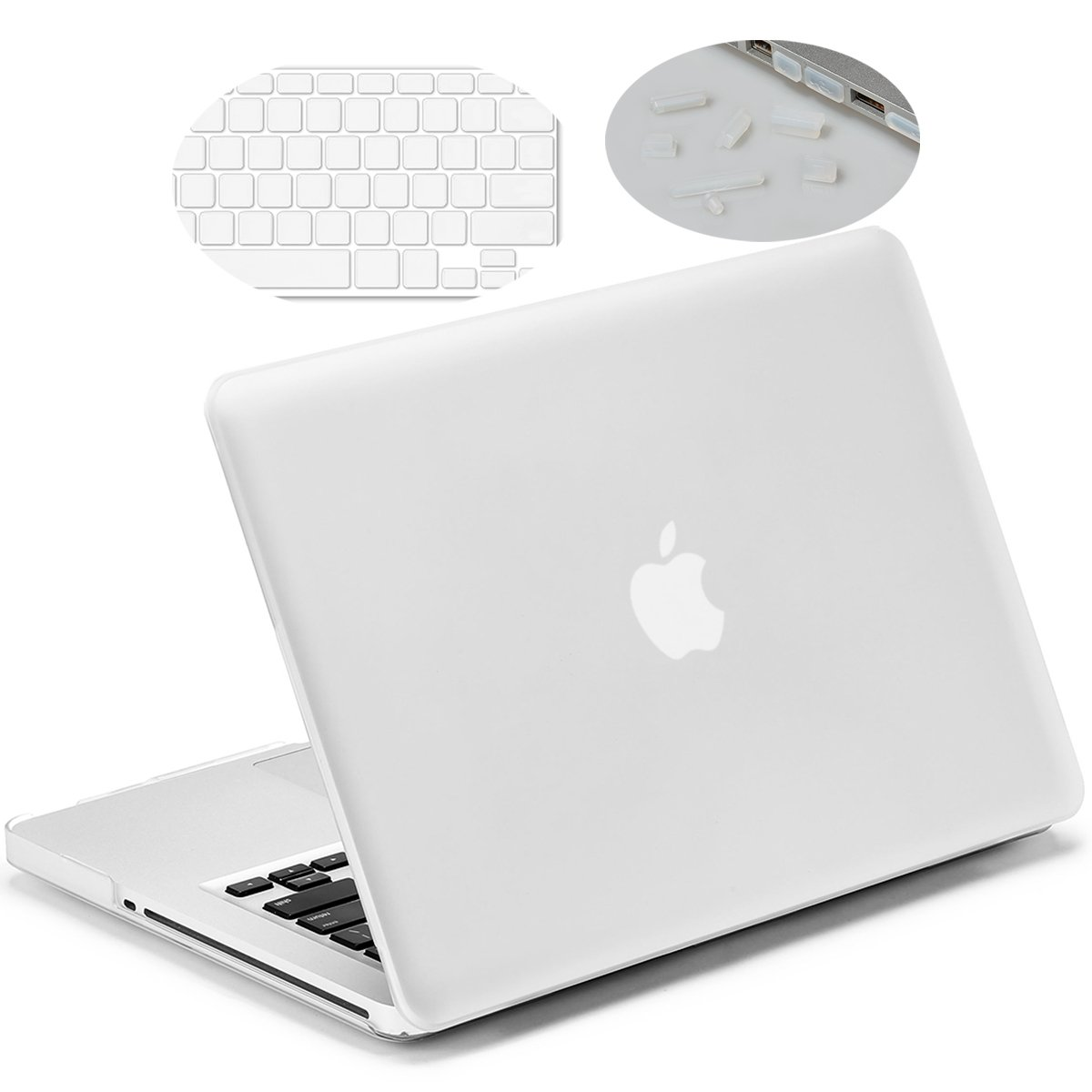 reputable site caf35 b124d LENTION Hard Case for MacBook Pro (13-inch, Late 2008 to Mid 2012) - Model  A1278, with Keyboard Cover and Port Plugs, Matte Finish Case with Rubber ...