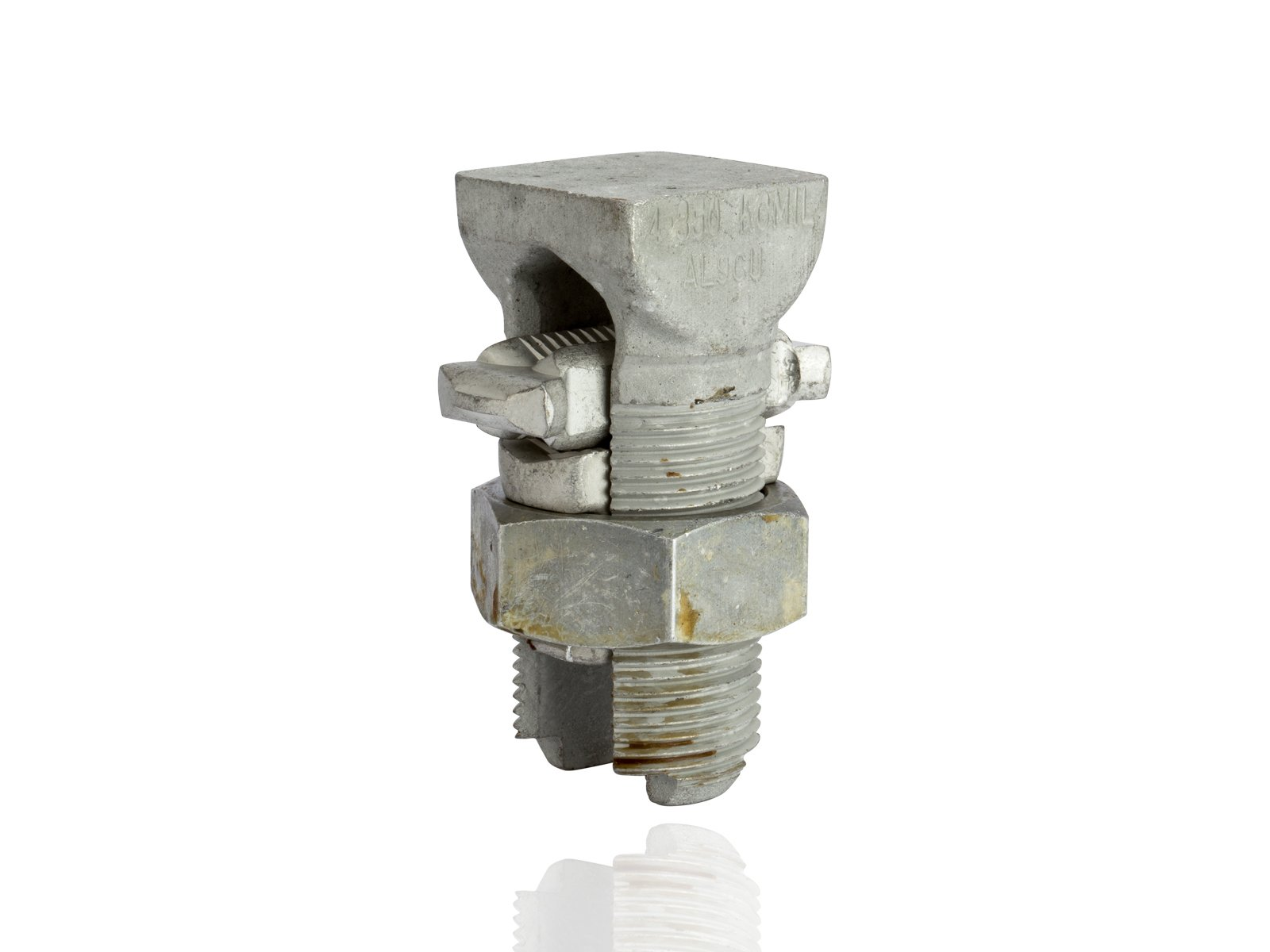 Aluminum Dual-Rated Split Bolt - APS Series, 0.414'' - 0.681'' Wire Diameter Range, 650lbs Torque