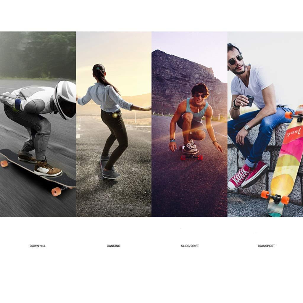 GuanMun Skateboard, Anfänger Double Rocker Professionelle Allrad-Autobahn-Leuchtbürste Straße Straße Straße Erwachsener Mädchen Junge Tanzplatte Anfänger Lang Bord (größe   A) B07Q3DGY4B Skateboards Qualitätskönigin 7251ee