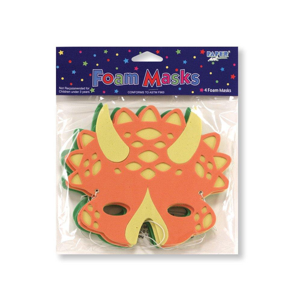 x4 Masques dinosaures en mousse