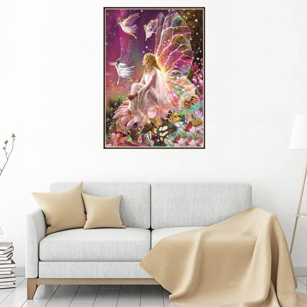 Multicolor❤️ Full Drill 5D Diamond Painting Staron DIY Diamond Embroidery Painting Cross Stitch Kit 5D Diamond Crystal Rhinestone Embroidery Painting DIY Art Craft Canvas Wall Decor