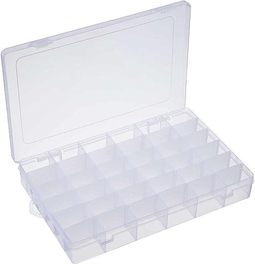 1 paquete de 36 rejillas para separadores de joyas, organizador ajustable de plástico transparente con caja de almacenamiento: Amazon.es: Hogar