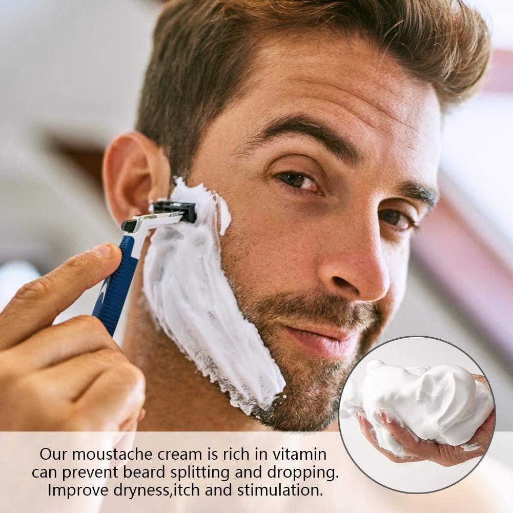 Crema de afeitar, espuma espumante natural Barbering Beard Balm ...