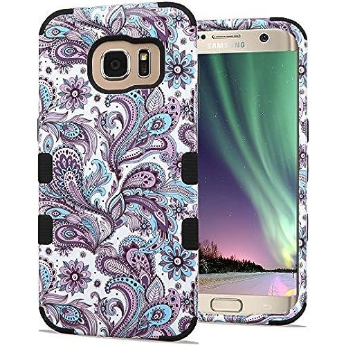 Samsung Galaxy S7 Edge Case, JoJoGoldStar TUFF Designer Hybrid, Slim Fit Plastic and Silicone TPU Cover - European Flowers Sales
